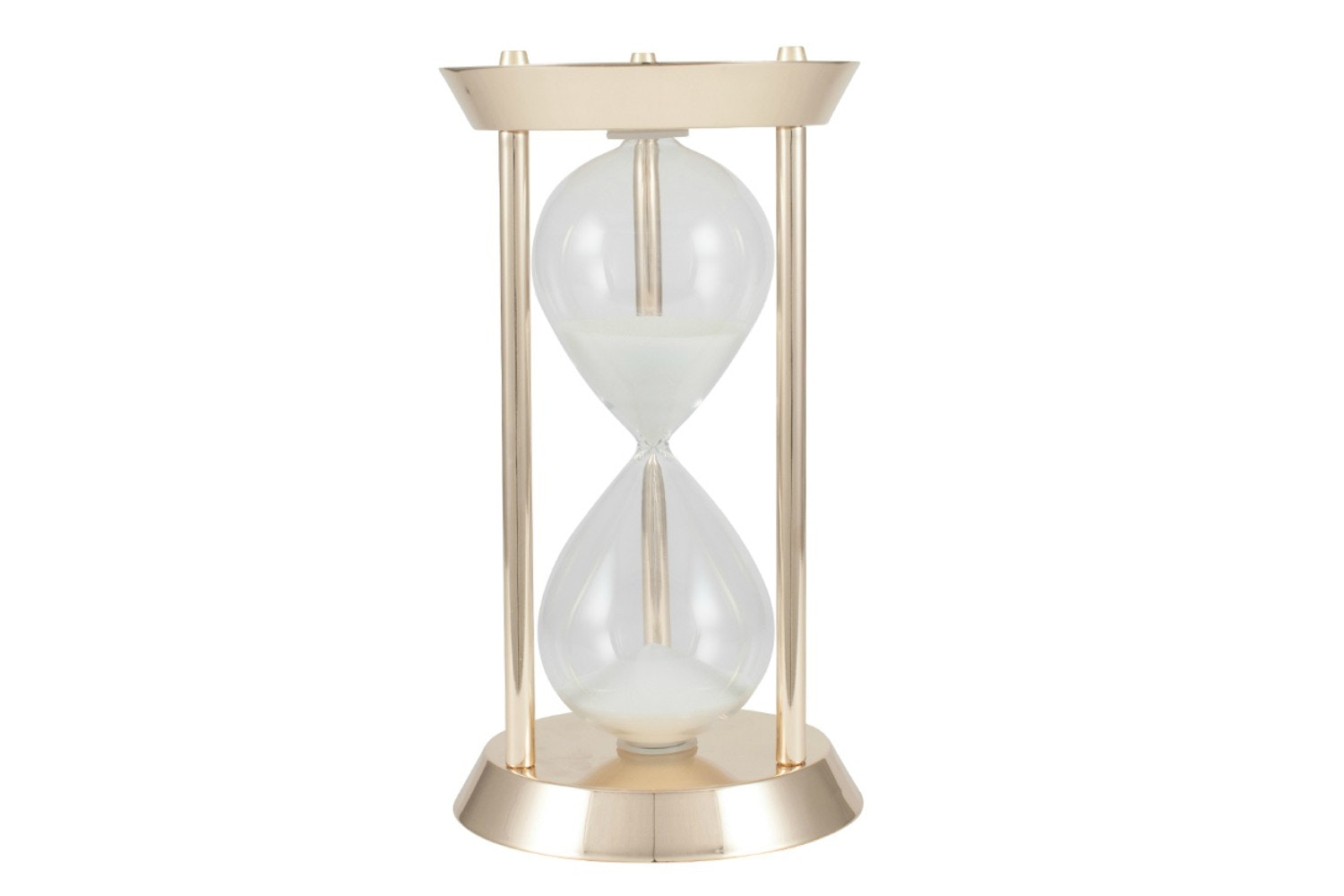 Gold Metal & Glass Hourglass