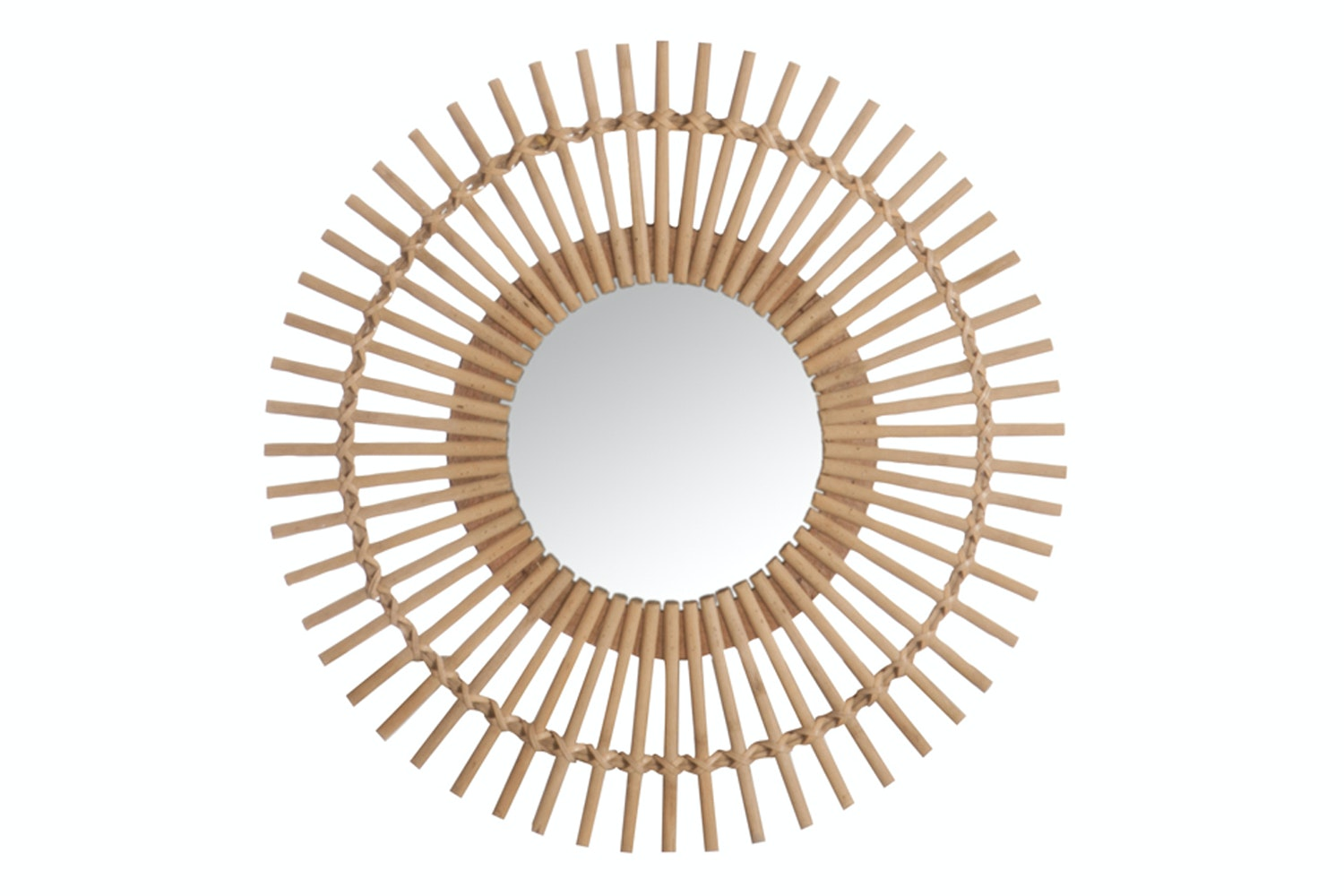 Mirror Round In Bamboo Natural | Small