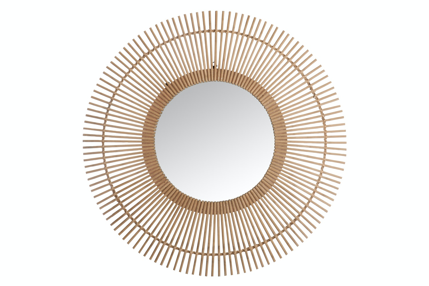 Mirror Round In Bamboo Natural | Large