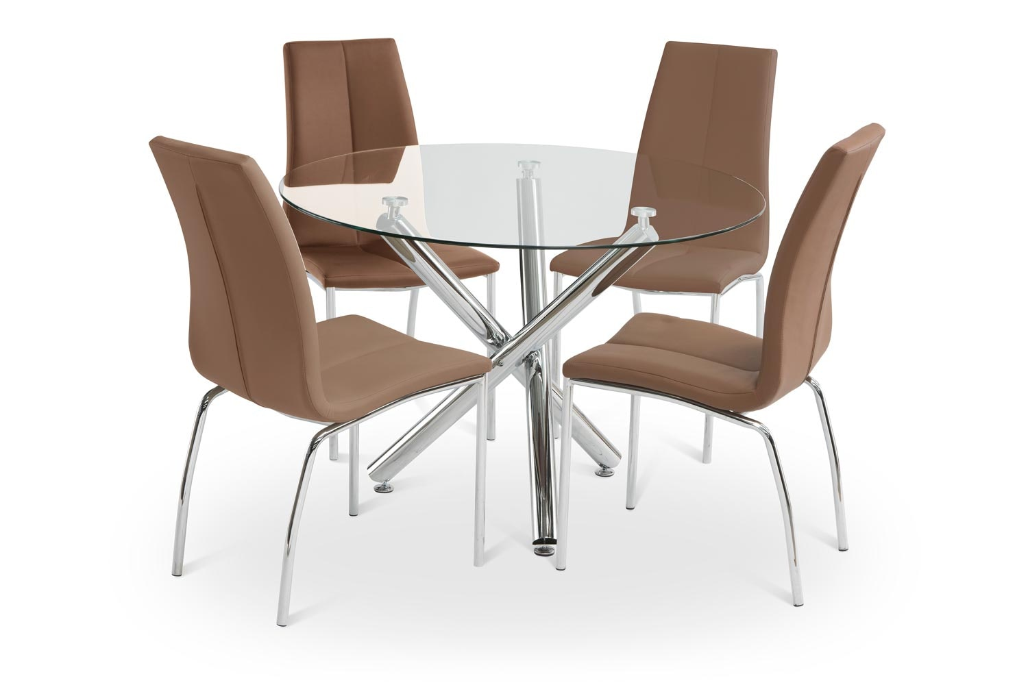 Pilar Dining Set With Cinnamon Reno Chair | 5 Piece
