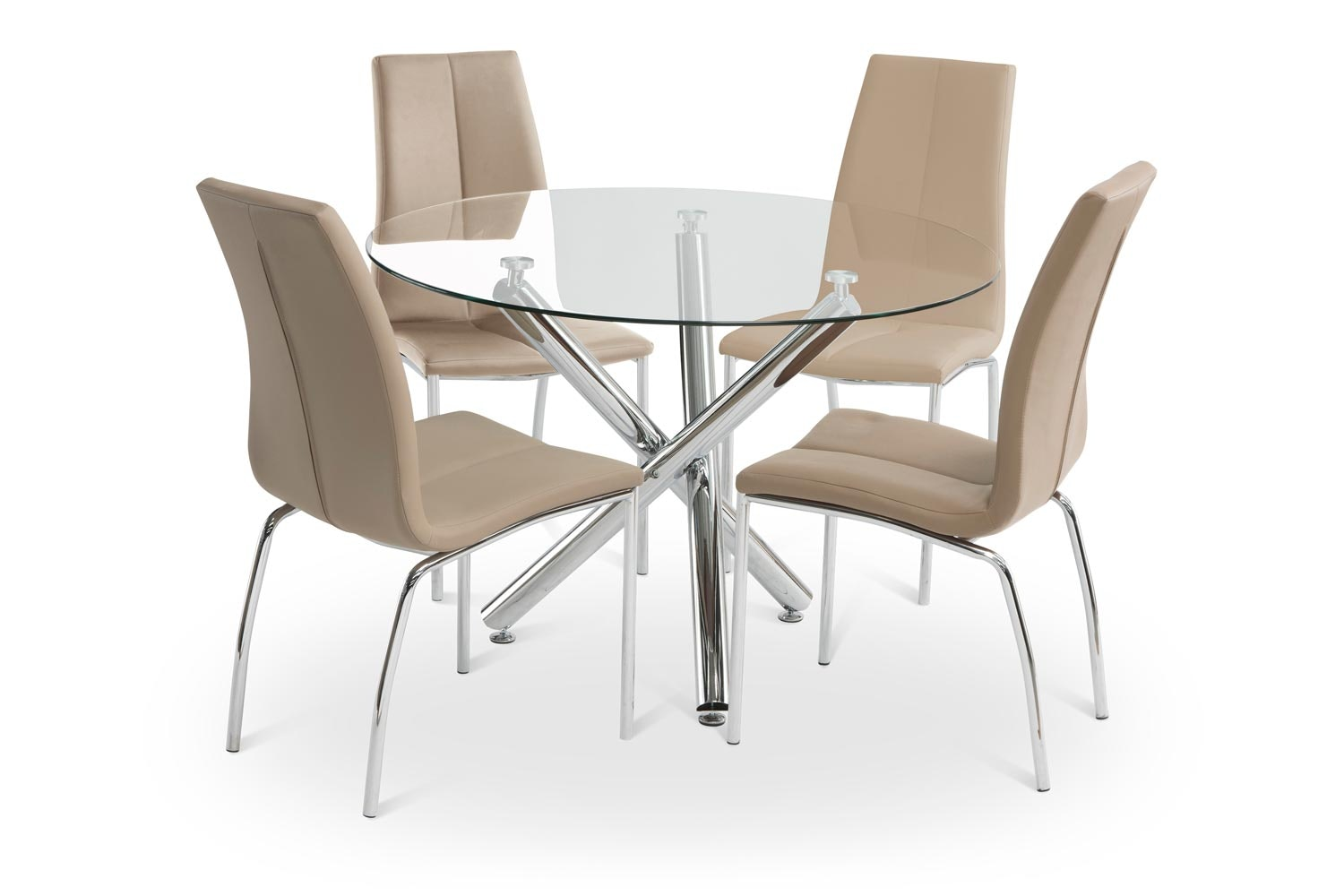 Pilar Dining Set With Stone Reno Chair | 5 Piece