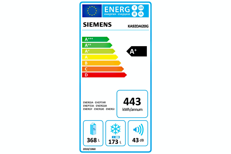 Siemens IQ500 Fridge Freezer   KA92DAI20G