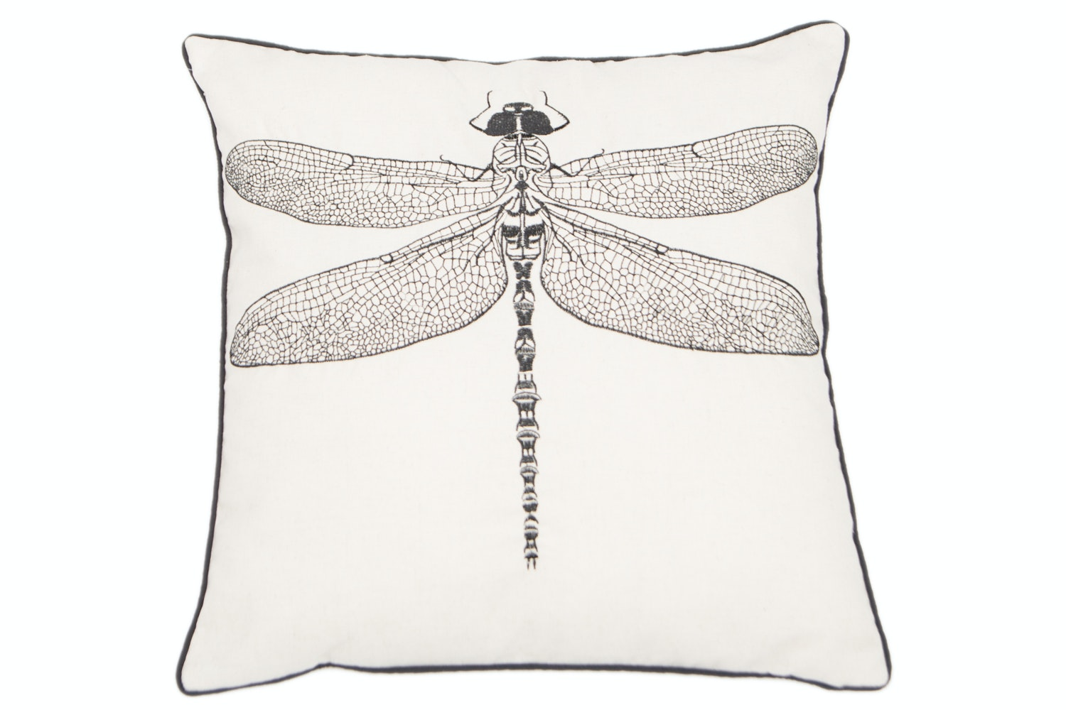 Embroidered Dragon Fly Cushion
