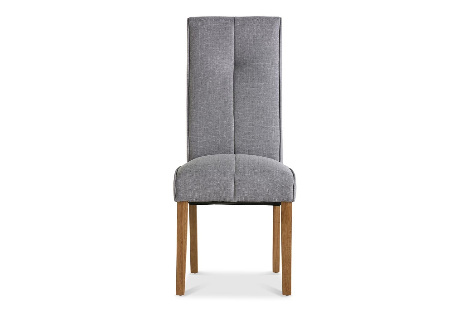 Mabel Dining Chair | Oak Leg | Silver