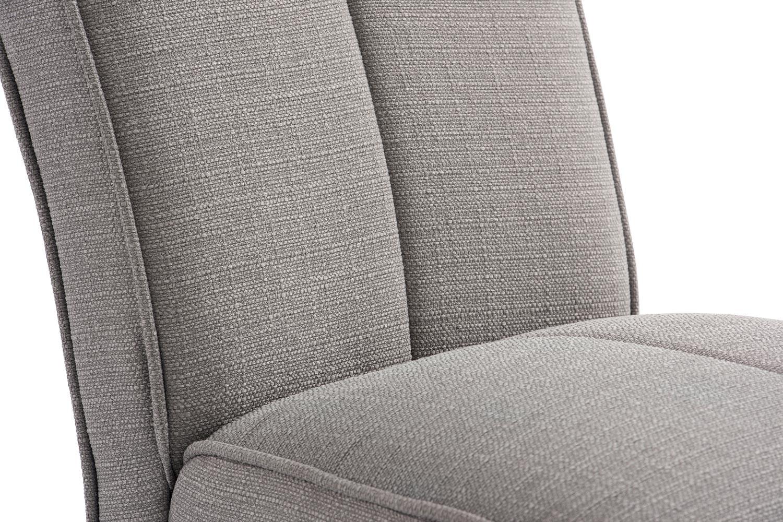Mabel Dining Chair | Dark Leg | Silver