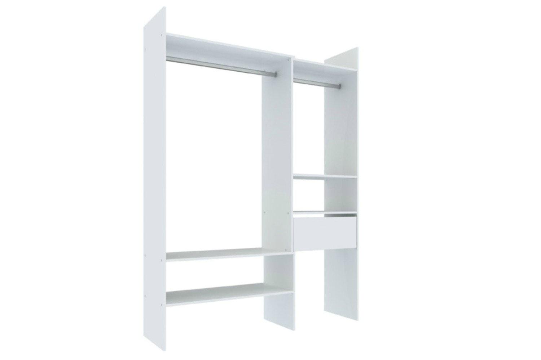 Breda Robe Adjustable Open Storage | White