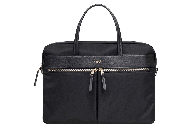 "Knomo Hanover 14"" Slim Briefcase | Black"