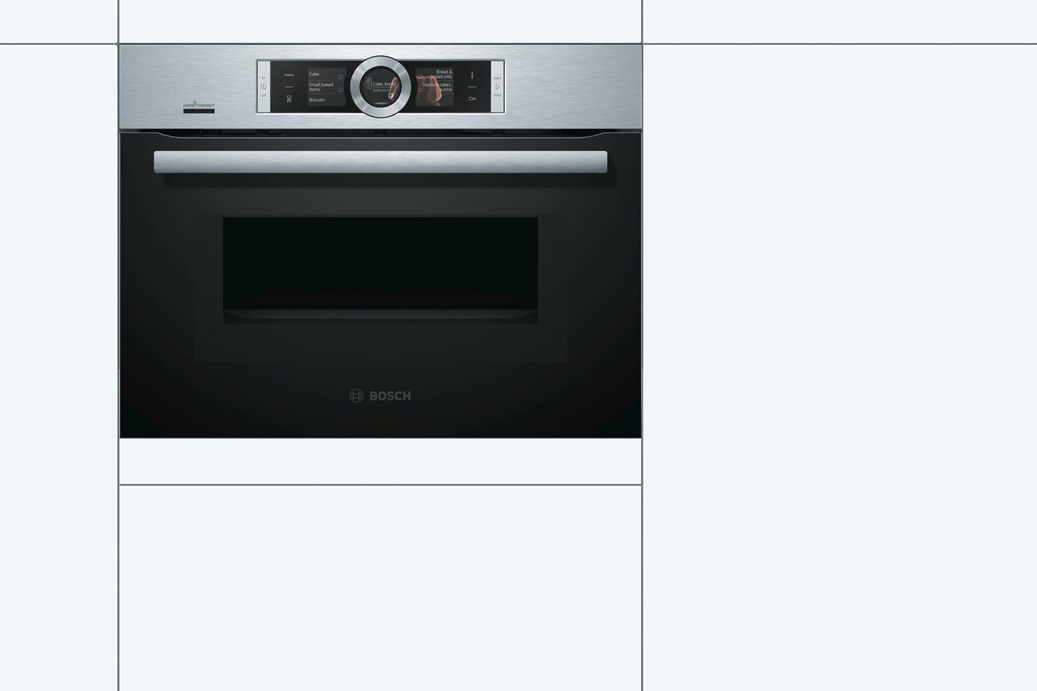 Bosch Series 8 Compact Oven with Microwave | CMG676BS6B