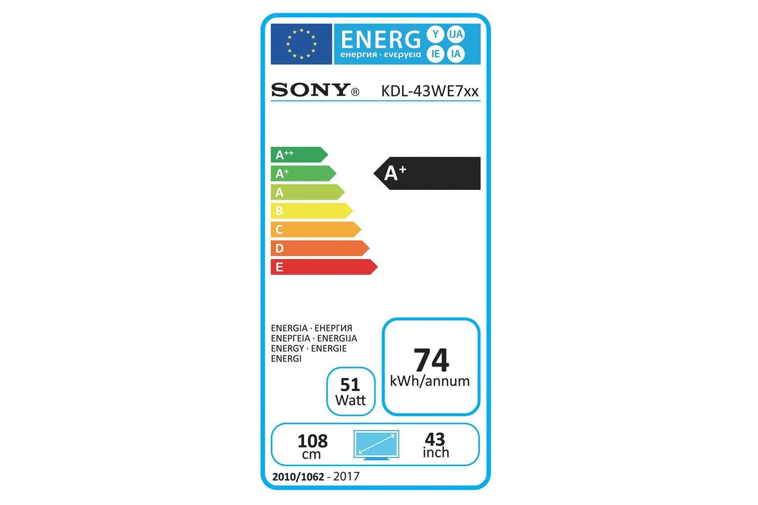 "Sony 43"" Full HD Smart TV 