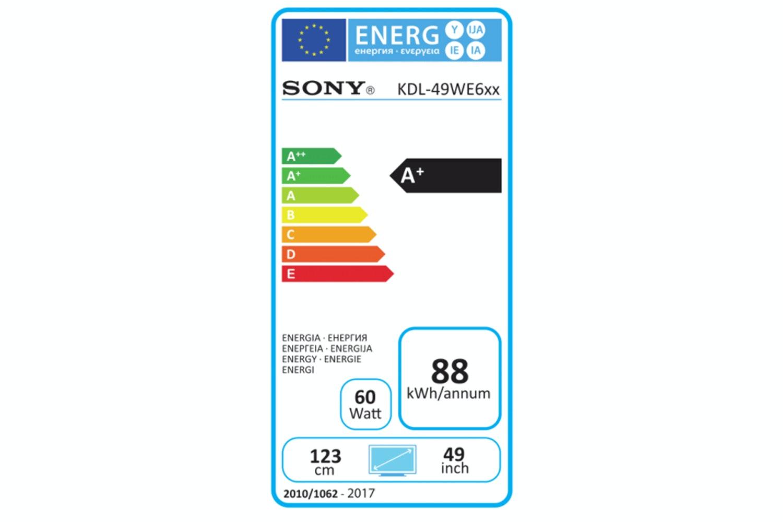 "Sony Bravia 49"" Smart HDR LED TV | KDL49WE663BU"