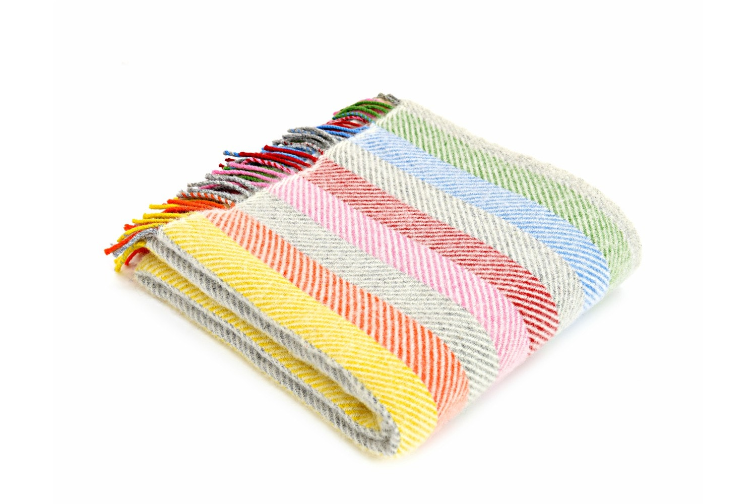 Lifestyle Rainbow Grey Stripe Throw