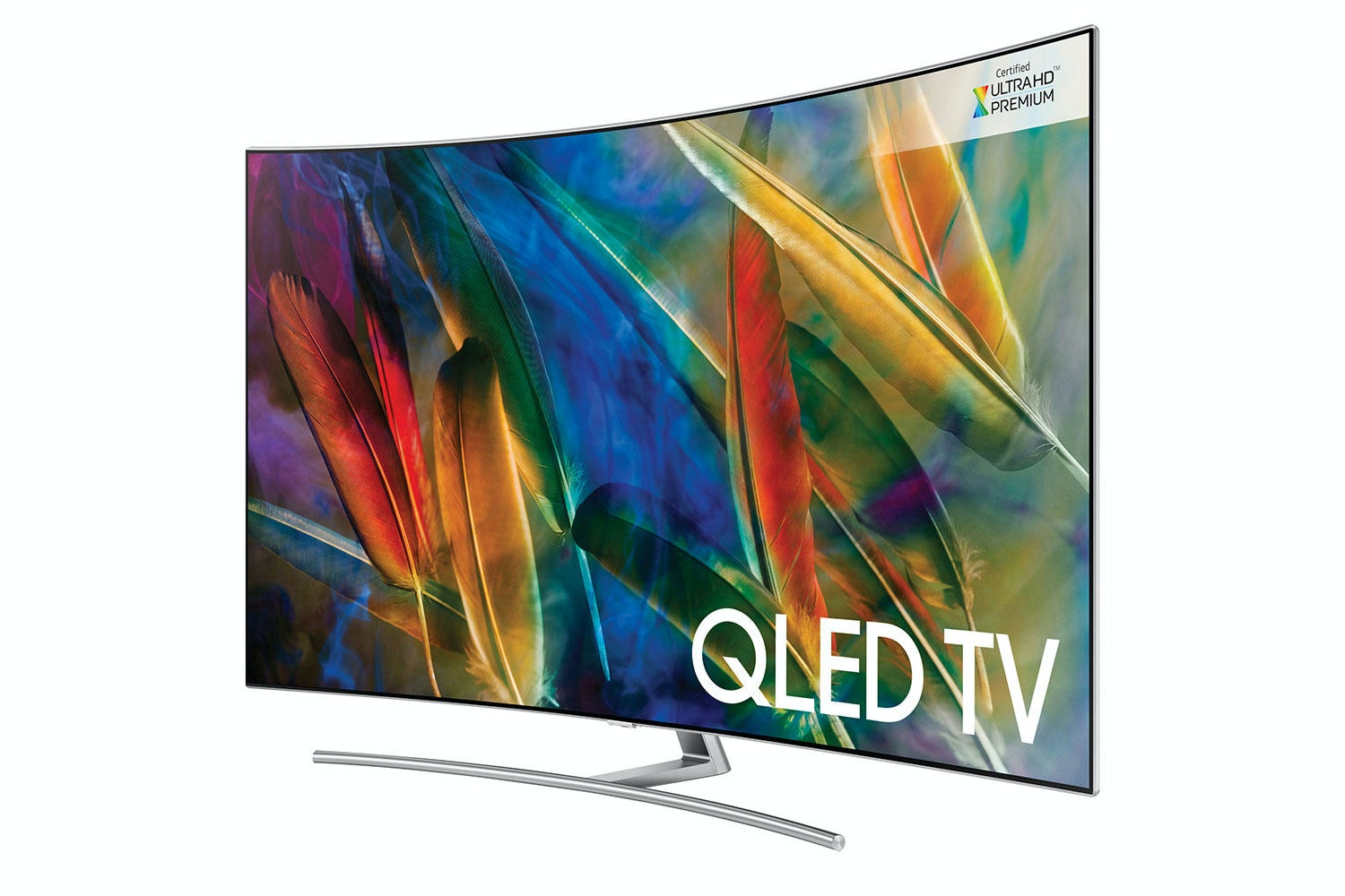 "Samsung 55"" Curved Ultra HD Smart QLED TV 