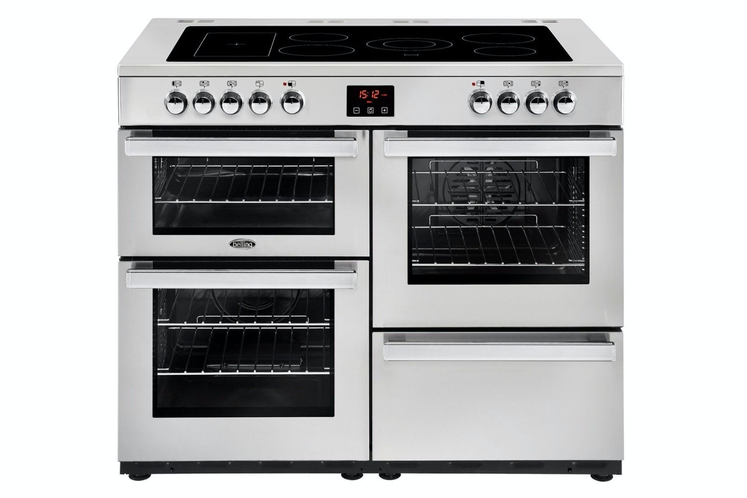 Belling Cookcentre 100cm Electric Range Cooker | 100EPROFSTA | Stainless Steel
