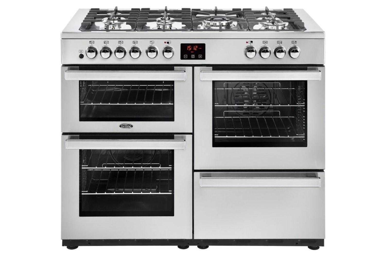 Belling Cookcentre 110cm Dual Fuel Range Cooker | 110DFTPROFSTA
