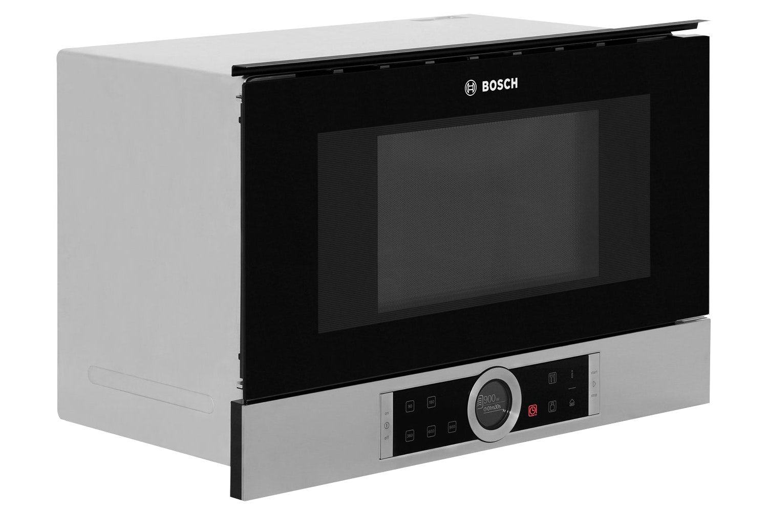 Bosch Series 8 21L 900W Built In Microwave | BFL634GS1B | Black