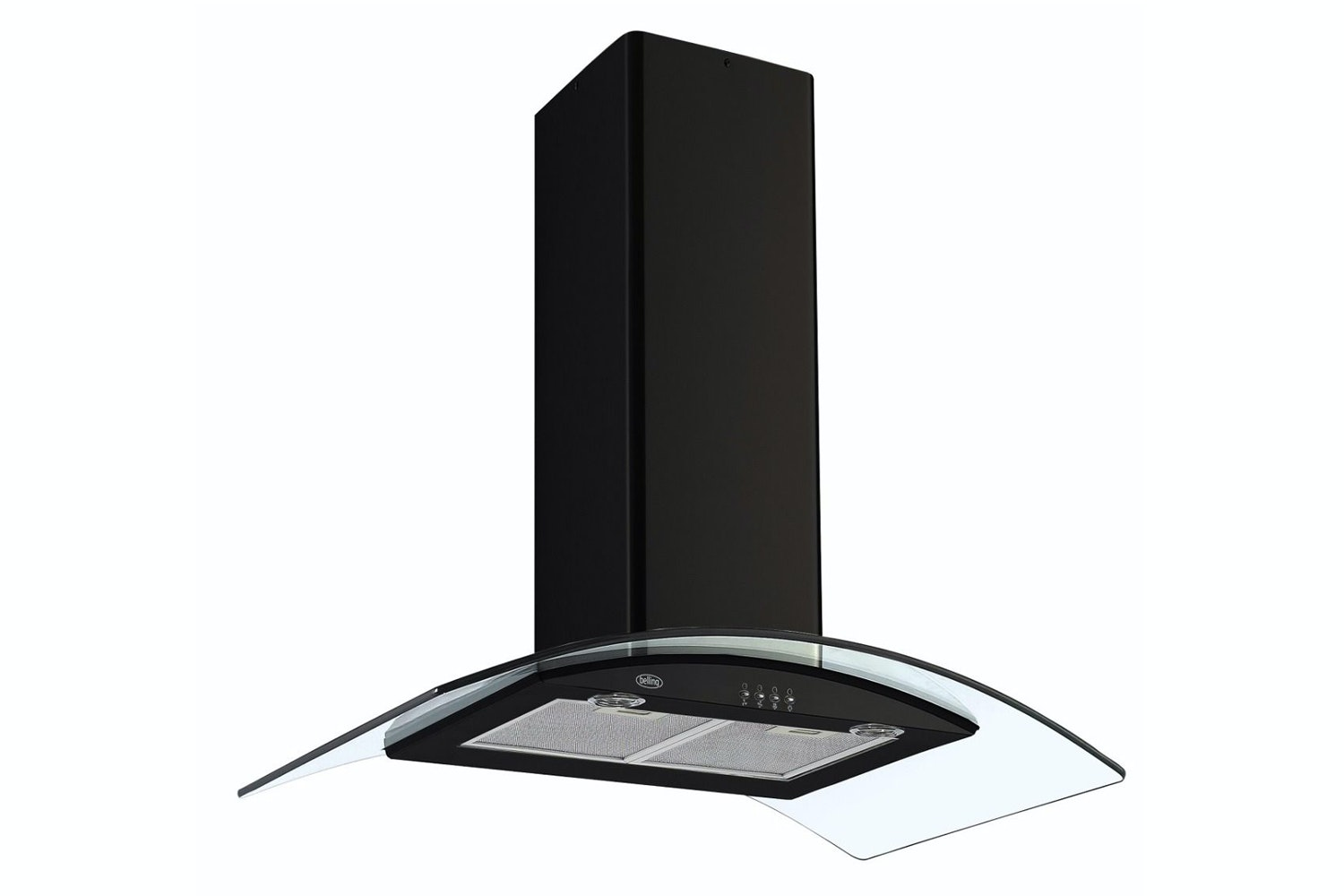 Belling 90cm Curved Glass Hood | CHIM903GBLK