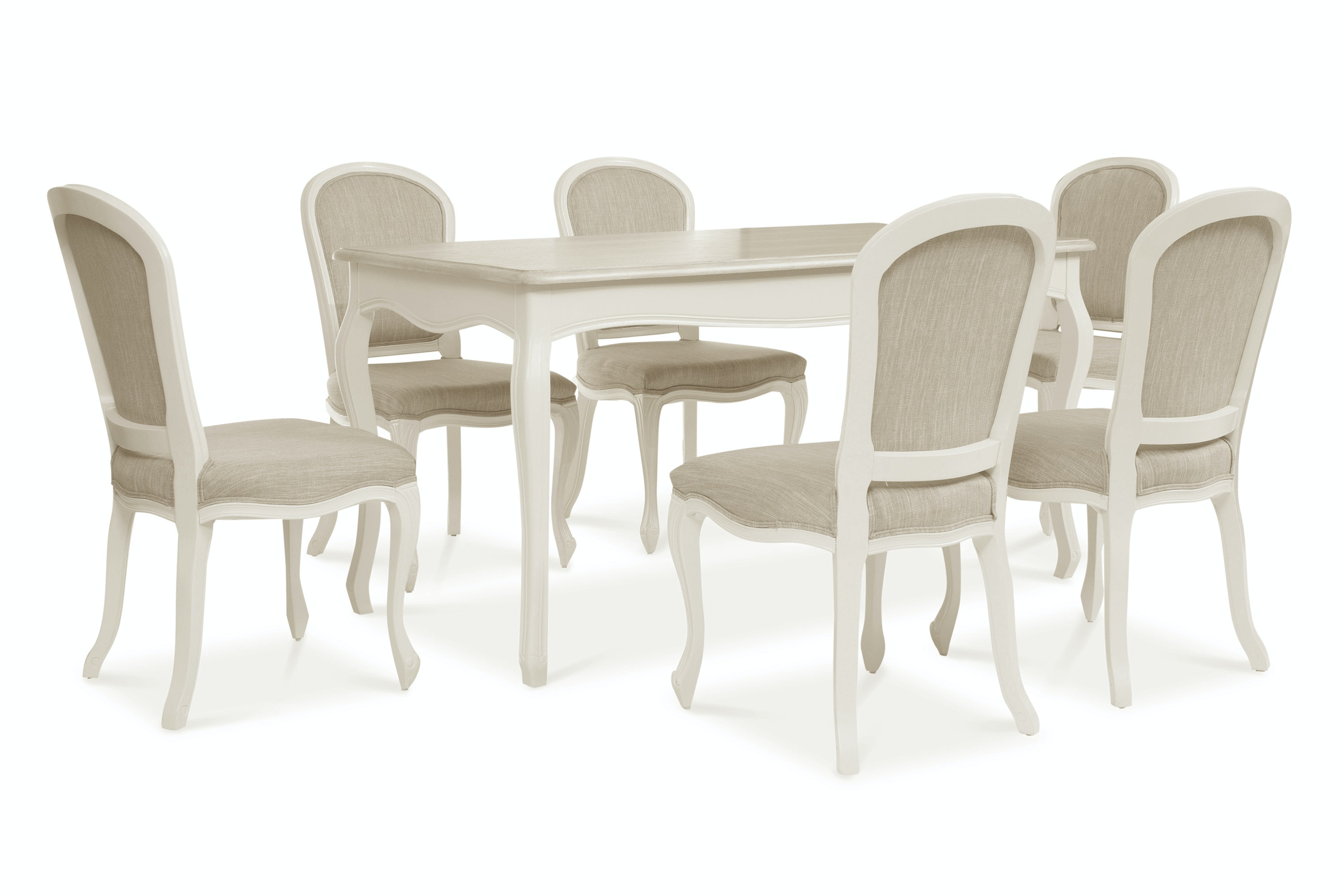 Bouvard Set With Rectangle Table | 7 Piece