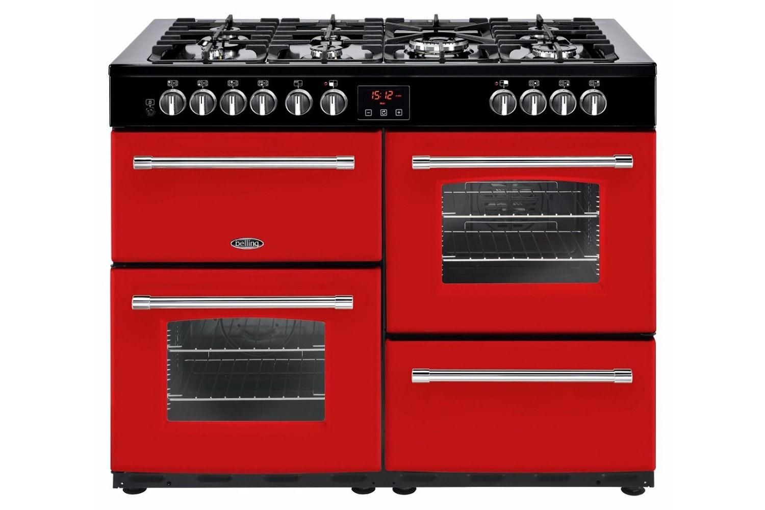 Belling Farmhouse 110cm Dual Fuel Range Cooker | FH110DFTJA | Red