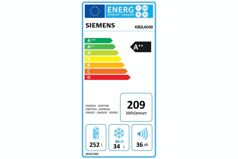 Siemens Integrated Refrigerator White  KI82LAD30