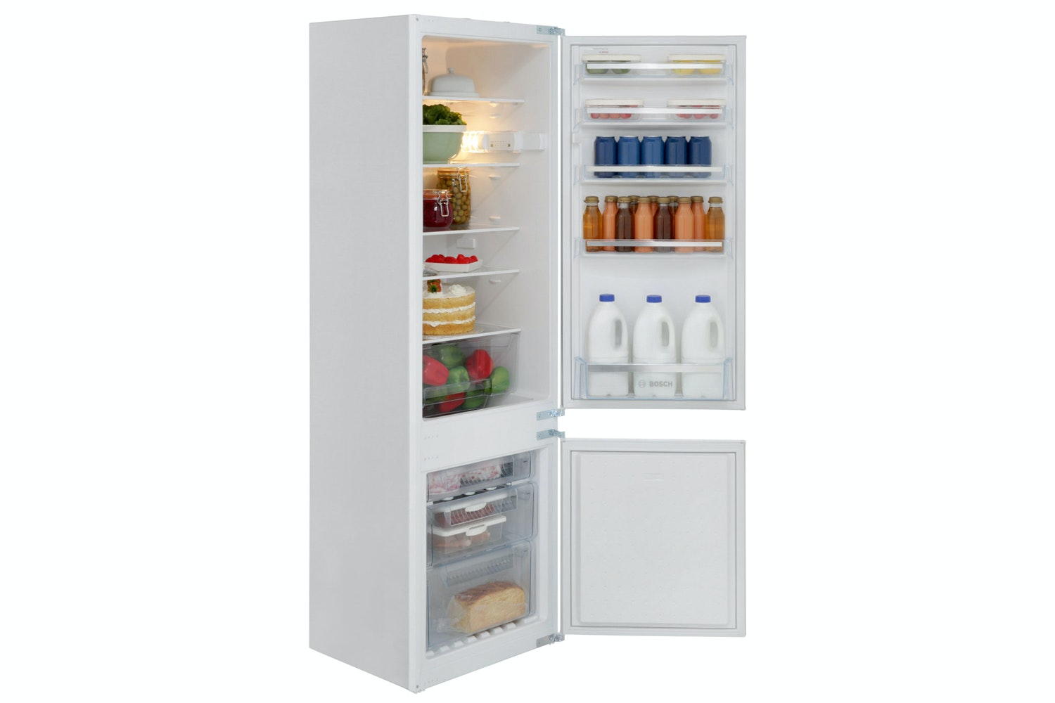 Bosch Serie 2 Integrated Fridge Freezer | KIV38X22GB