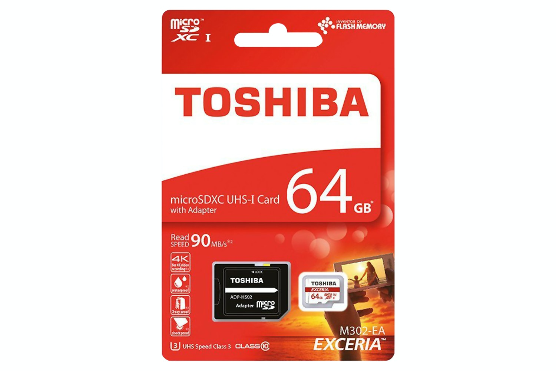 Toshiba Exceria Micro SD Card & Adapter | 64GB
