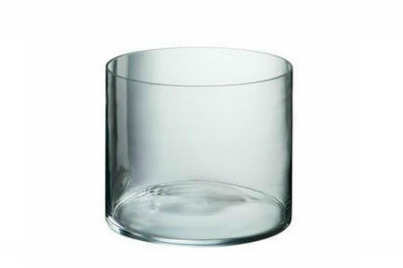 Wide Glass Vase