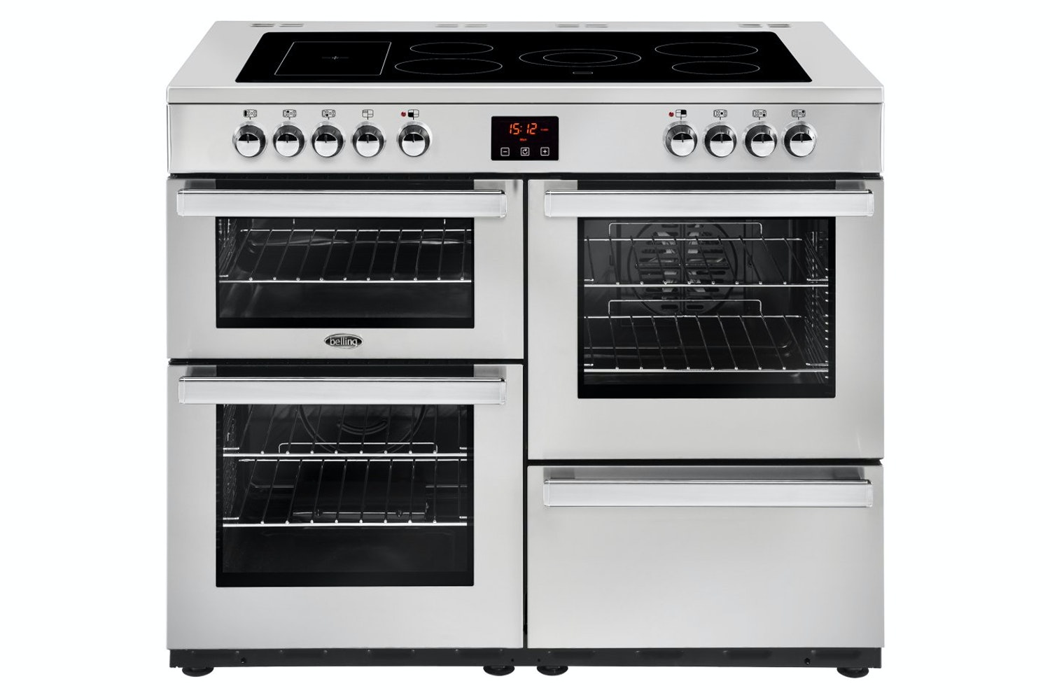 Belling Cookcentre 110cm Electric Range Cooker | 110EPROFSTA | Stainless Steel