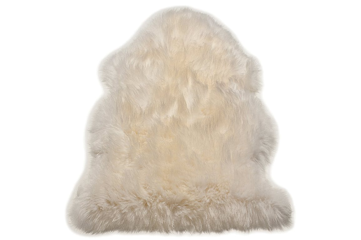 Sheepskin White Single