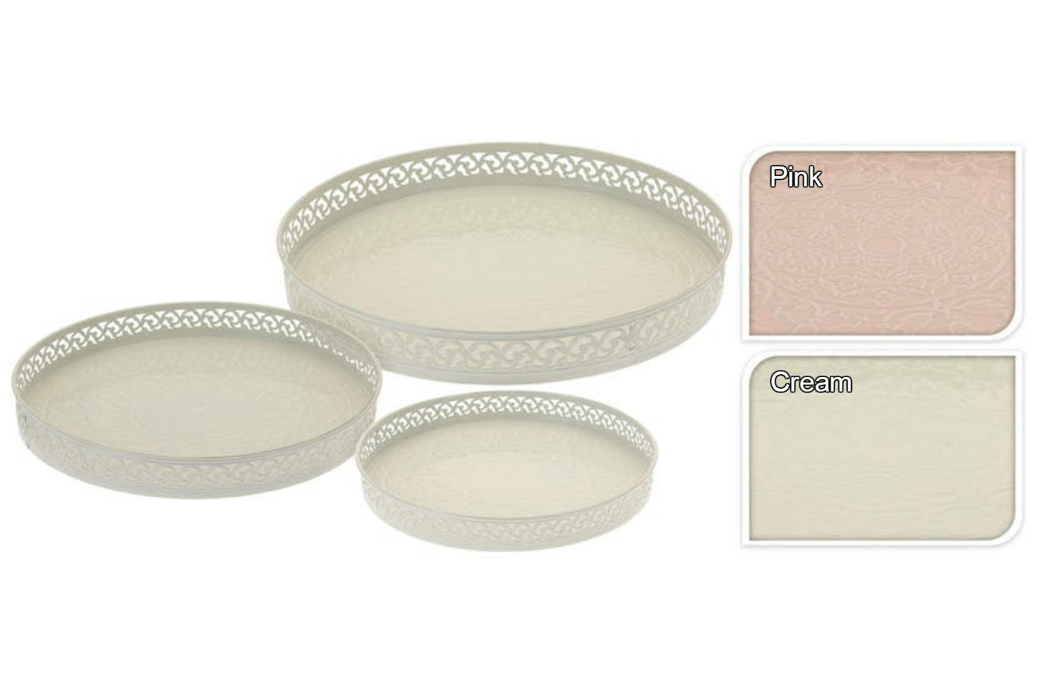 Soft Cream Tray | Set Of 3