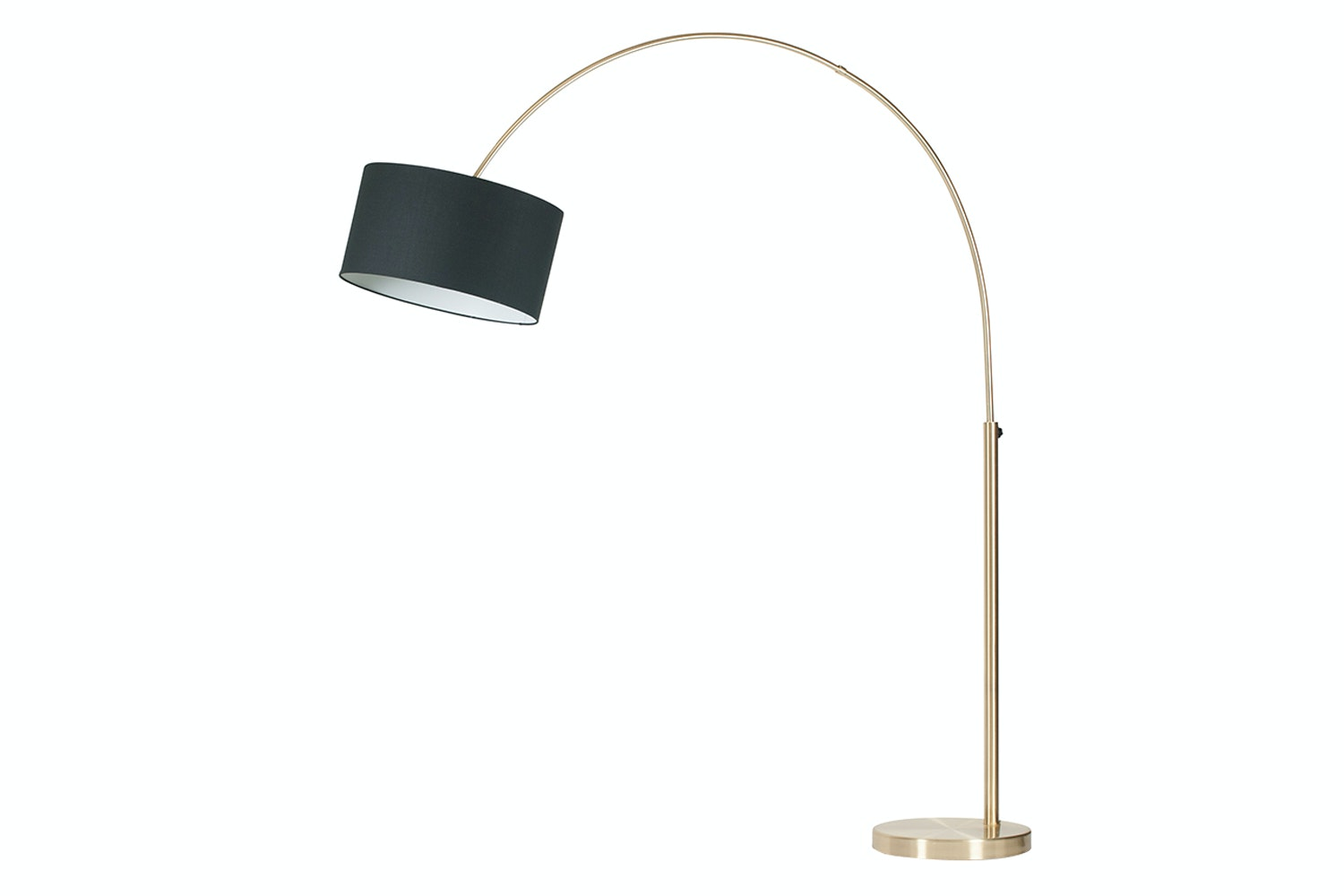 Monique Brass Arc Floor Lamp & Shade