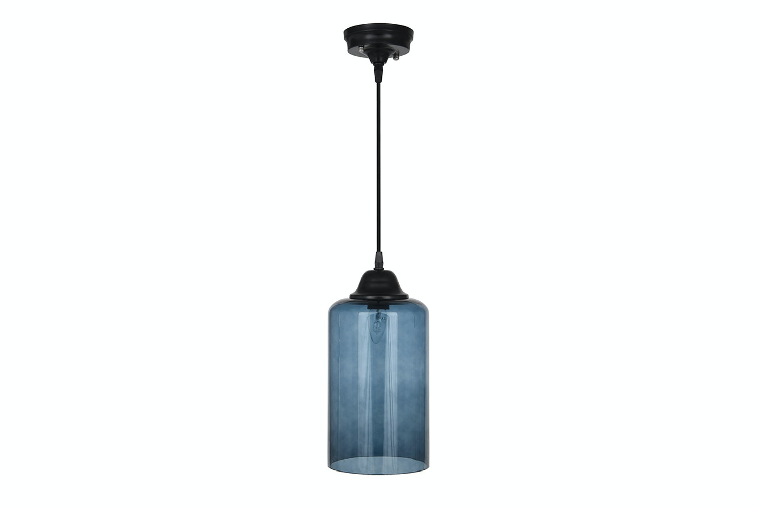 Teal Glass Cloche Electrified Pendant