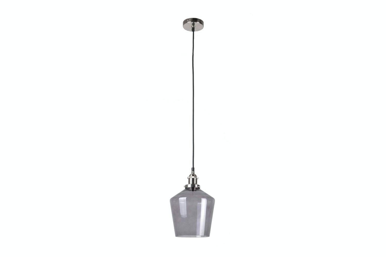 Emmanuelle Grey Glass & Silver Pendant
