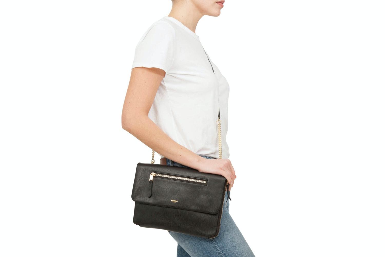 "Knomo Elektronista Clutch Leather Bag 10"" | Black"