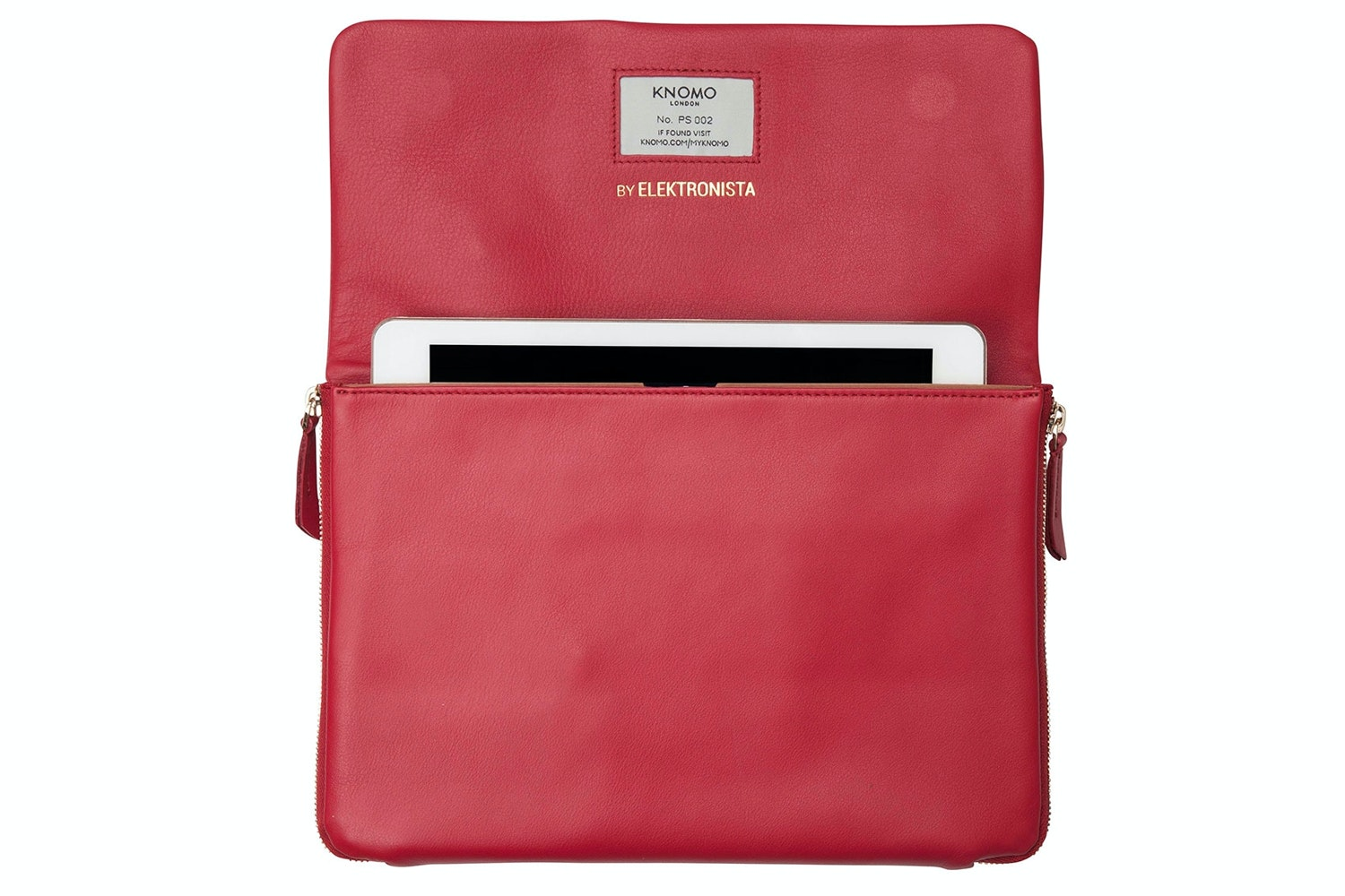 Knomo Elektronista Clutch Leather Bag 10"