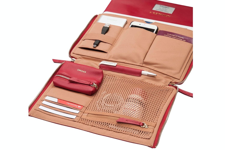 "Knomo Elektronista Clutch Leather Bag 10""   Chilli"