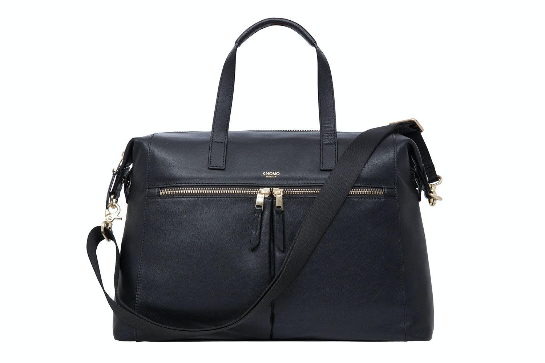 "Knomo Audley 14"" Leather Bag | Black"
