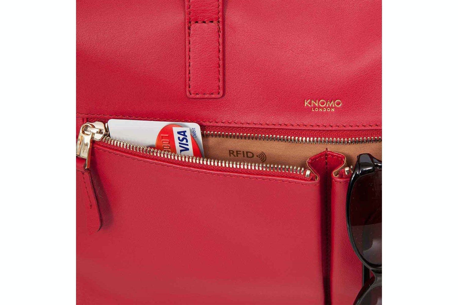 """Knomo Audley 14""""  Leather Bag 