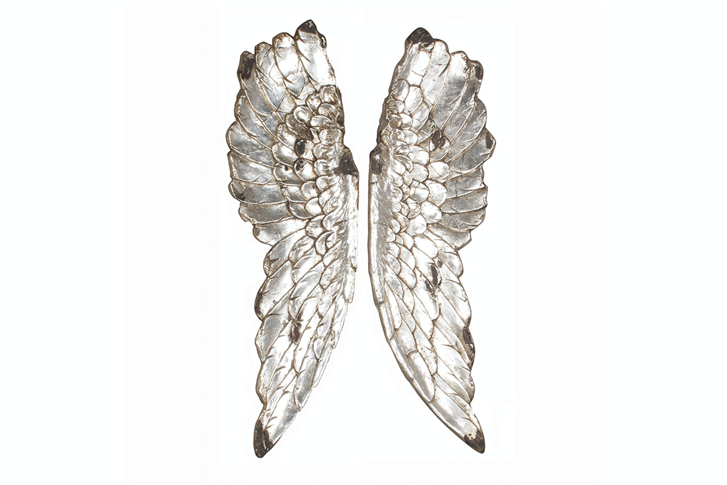 Silver Polyresin Angel Wings