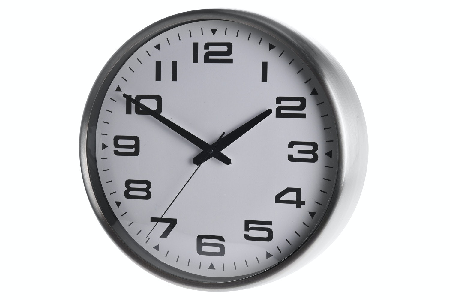 Metal Silver Plated Wall Clock