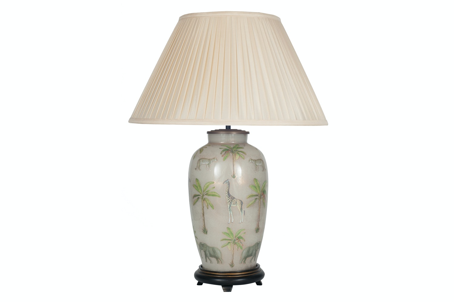 J Worrall Safari Pleat Shade Table Lamp | Large