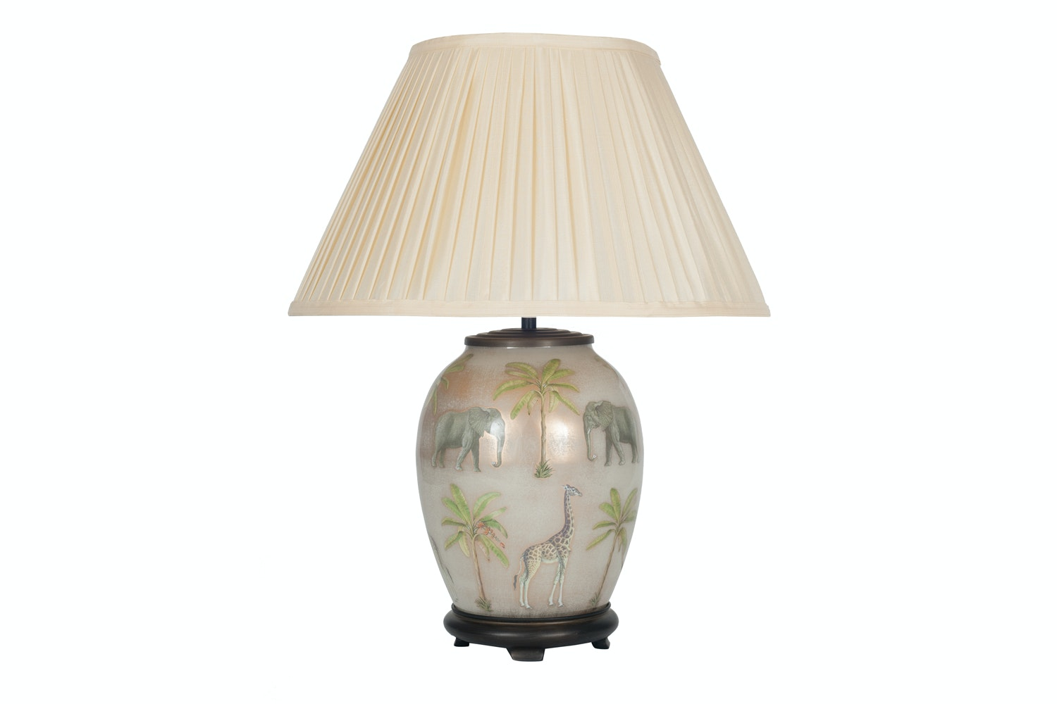 J Worrall Safari Pleat Shade Table Lamp | Medium
