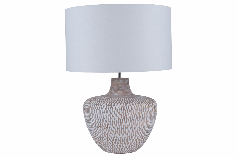 Eva Washed Wooden Table Lamp Ireland