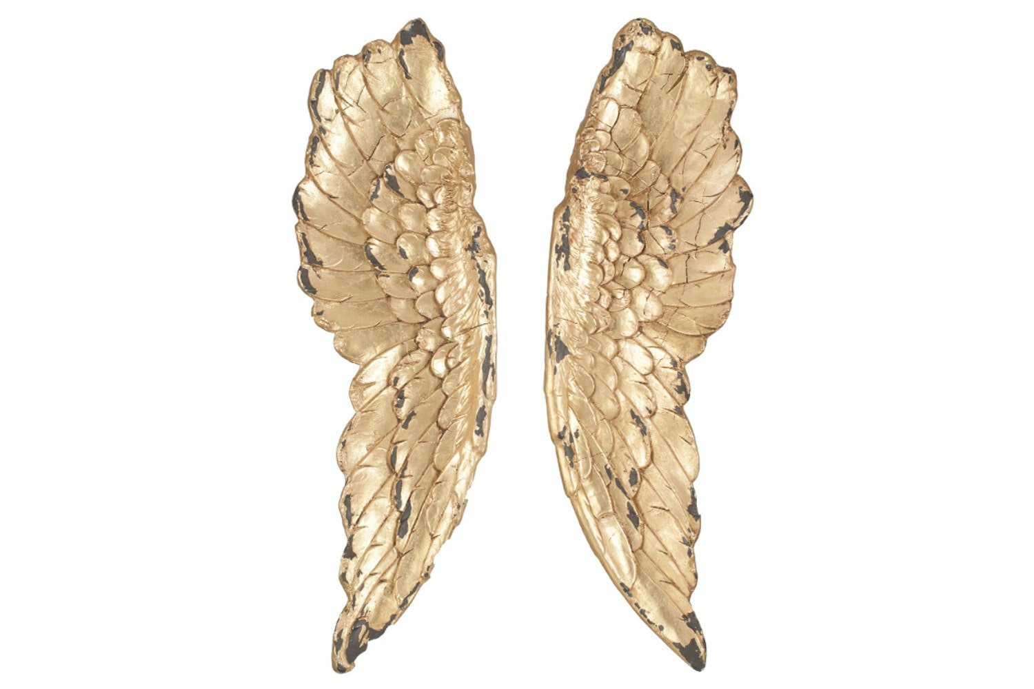 Gold Polyresin Angel Wings