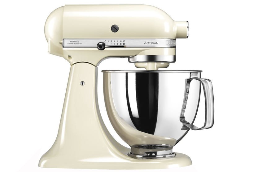 KitchenAid 4.8L Artisian Tilt-Head Stand Mixer | 5KSM125BAC | Cream