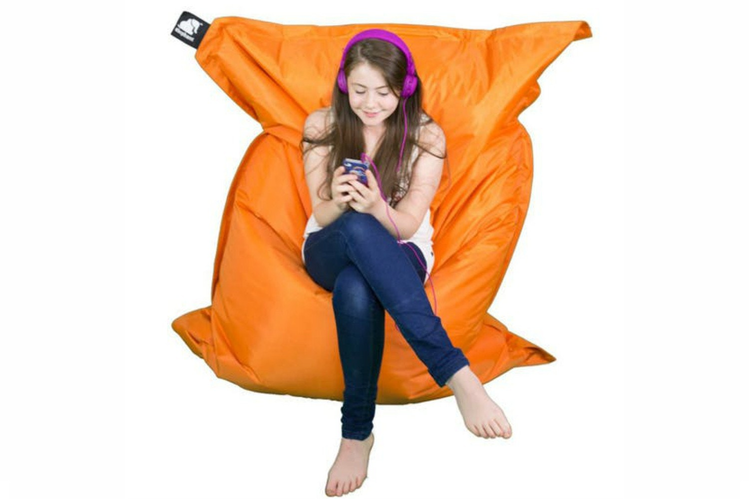 Elephant Jumbo Bean Bag | Zesty Orange
