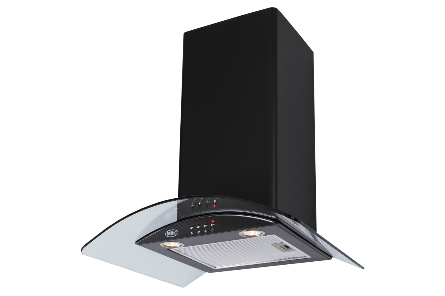 Belling 60cm Curved Glass Hood | CHIM603GBLK