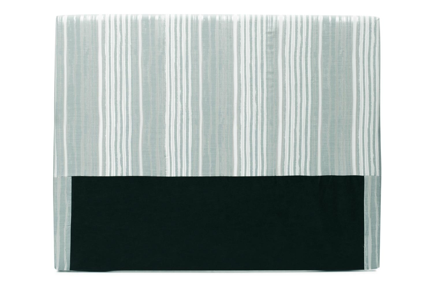 Abbey Headboard Cover |4Ft6 |Cotton Stripe Duck Egg