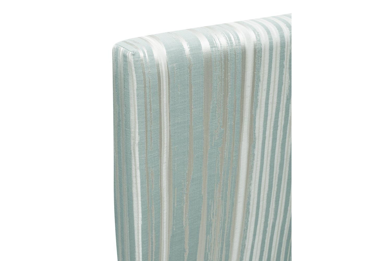Abbey Headboard Cover |5Ft |Cotton Stripe Duck Egg
