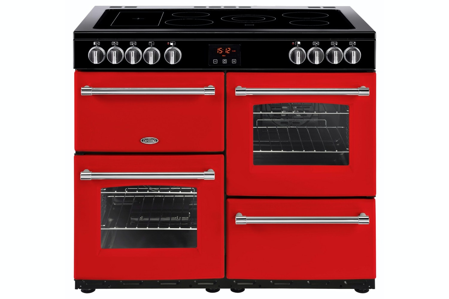 Belling Farmhouse 100cm Electric Range Cooker | FH100EJA | Red