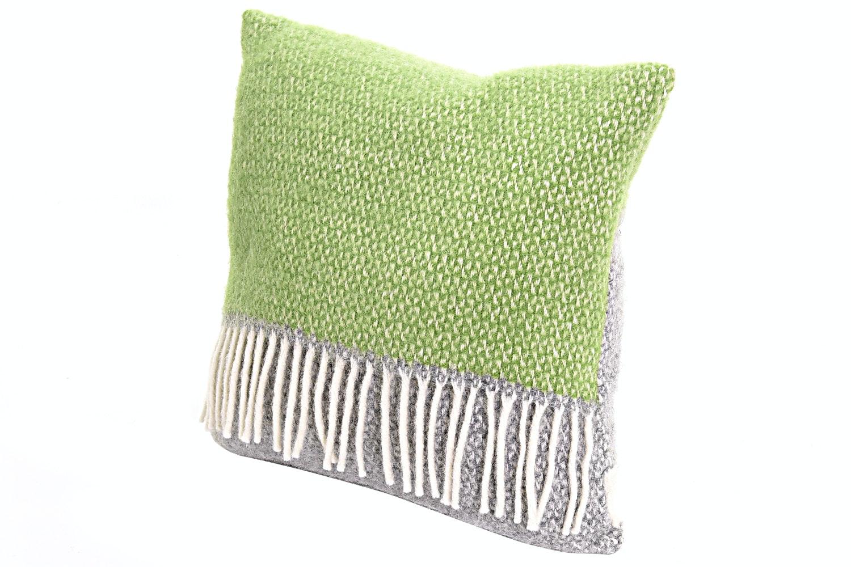Illusion Panel Cushion Grey/Green